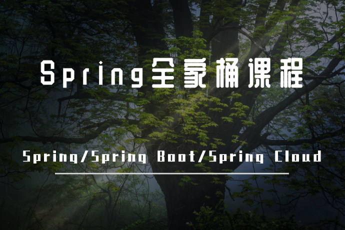 Spring全家桶课程-一站通关Spring、Spring Boot与Spring Cloud