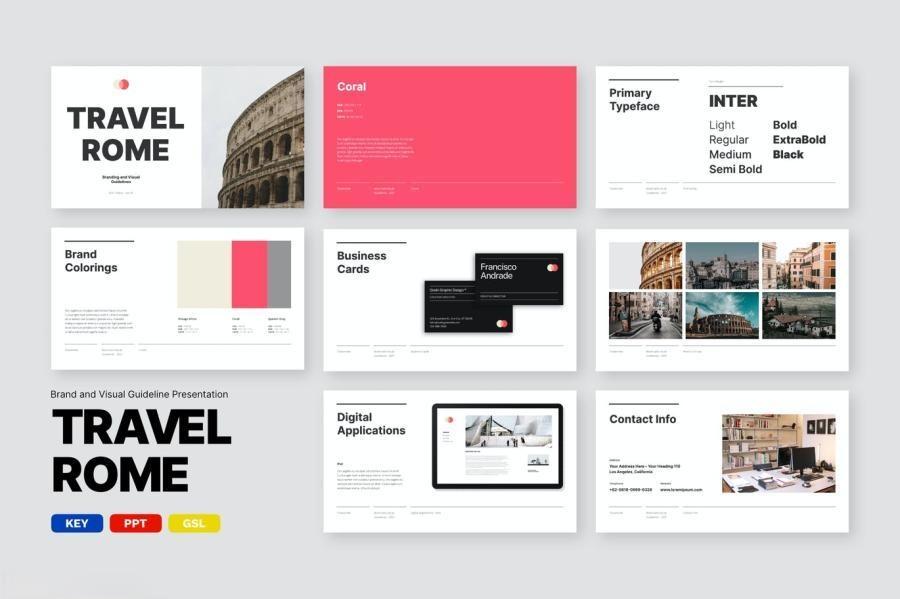 品牌设计项目提案报告ppt&keynote演示模板