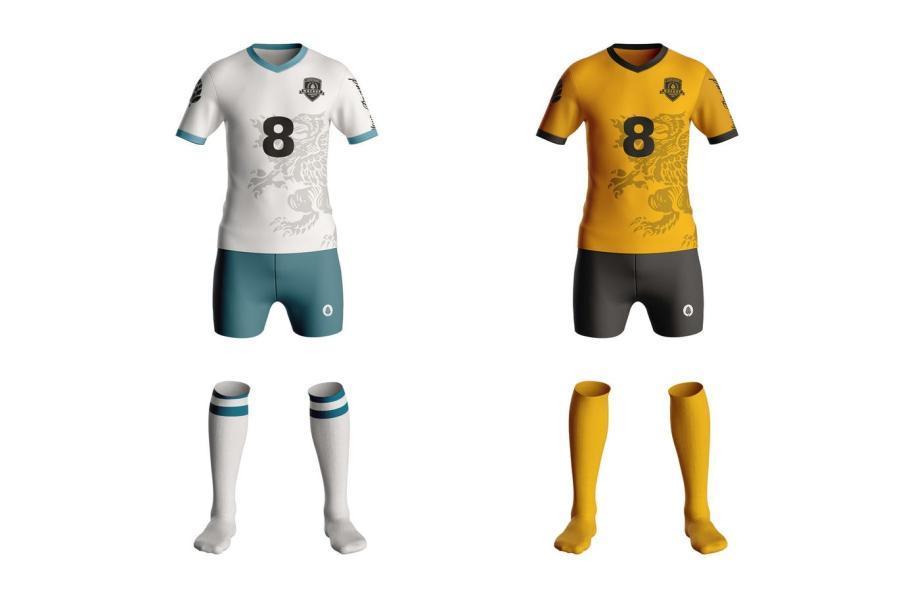 足球服运动服PS样机素材