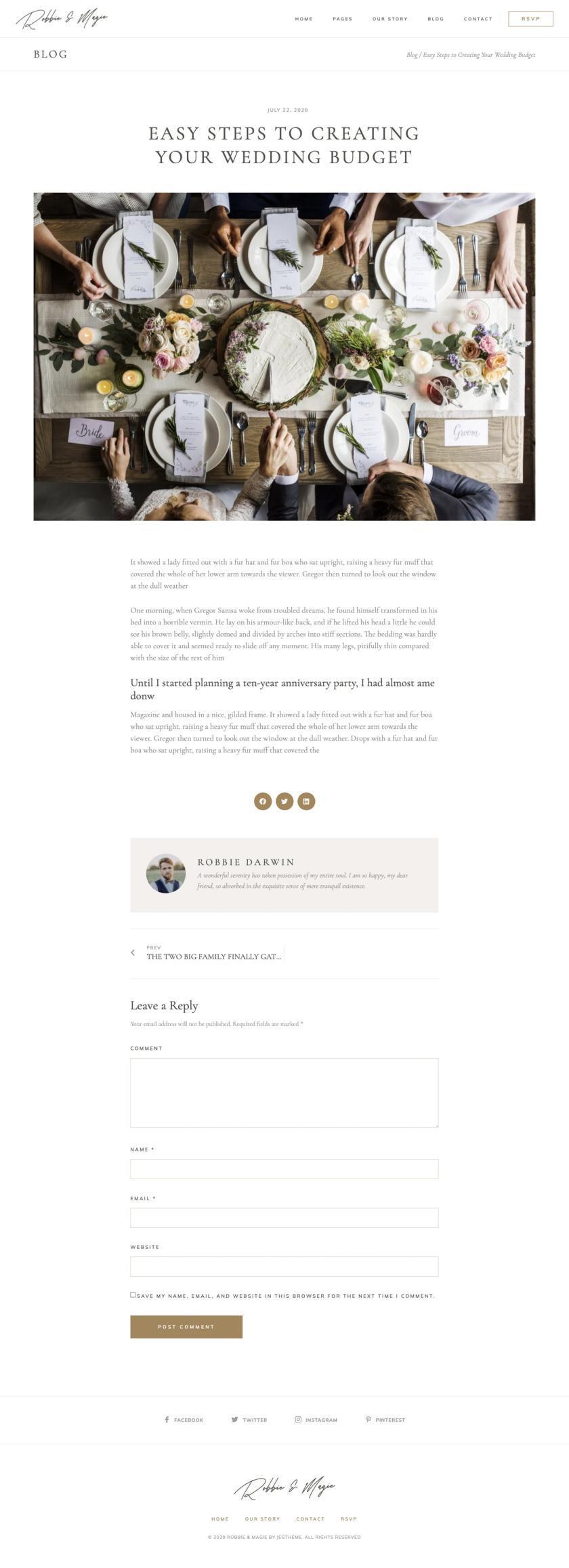 婚礼活动电子邀请函模板WordPress主题Elementor模板插图(1)