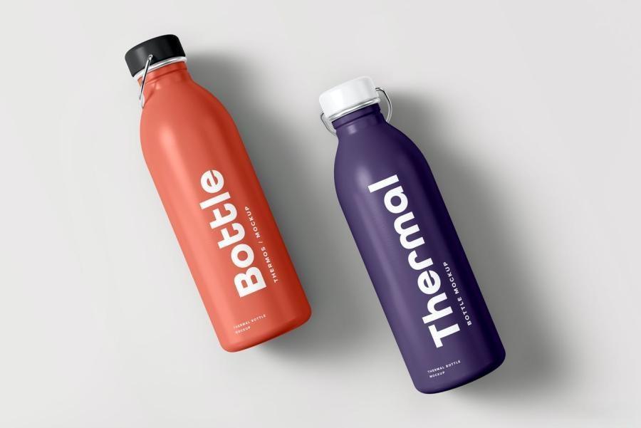不锈钢水瓶保温瓶热水瓶PS样机素材插图(10)