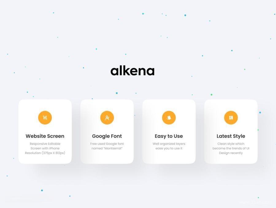 公司品牌宣传网站自适应Figma设计模板——Alkena