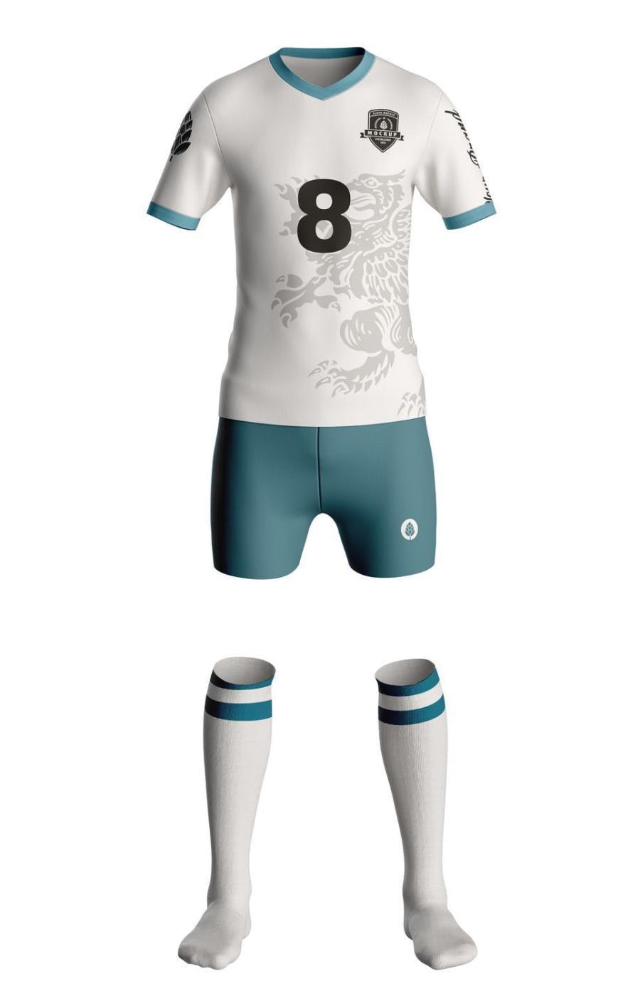 足球服运动服PS样机素材插图(3)
