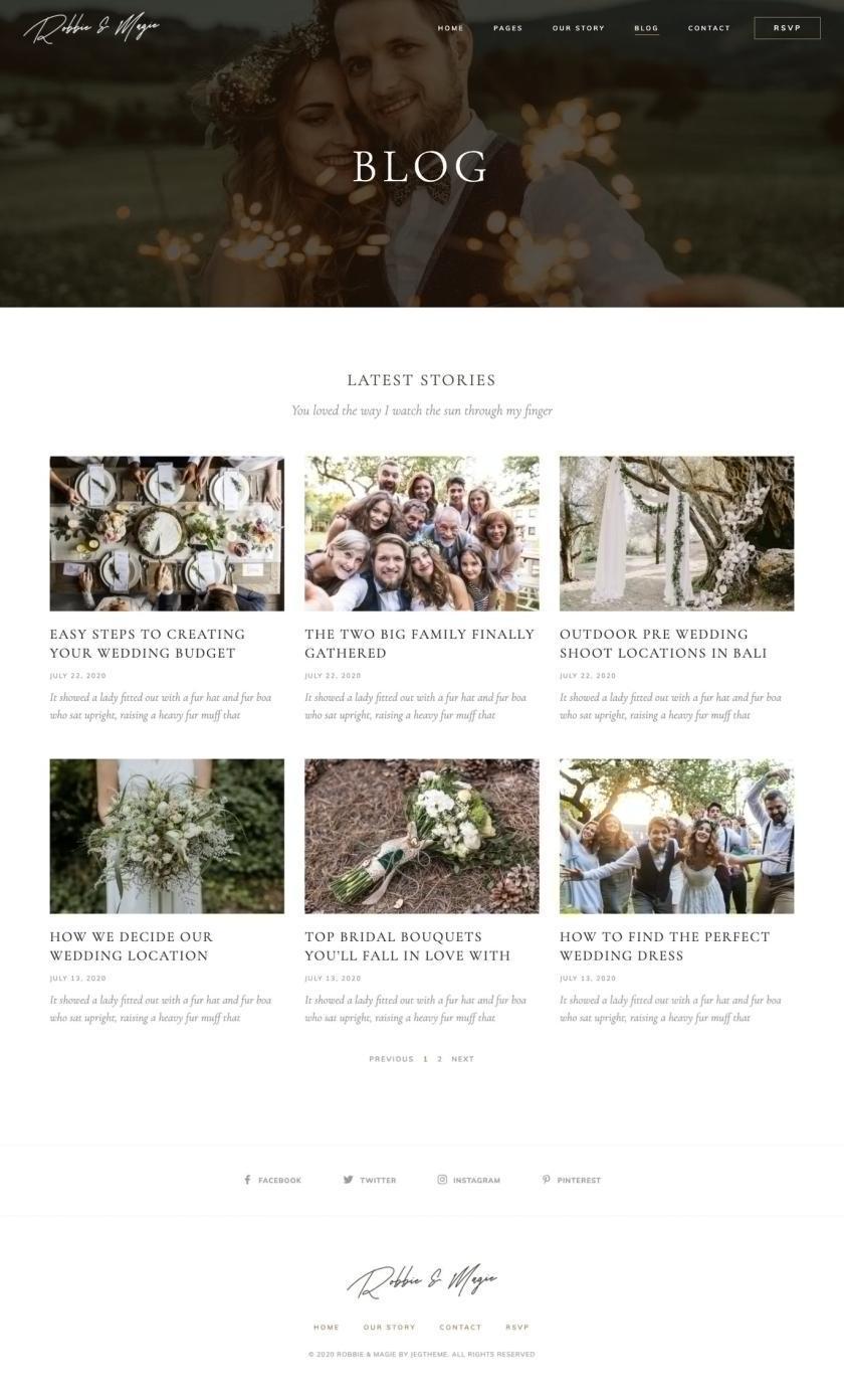 婚礼活动电子邀请函模板WordPress主题Elementor模板插图(8)