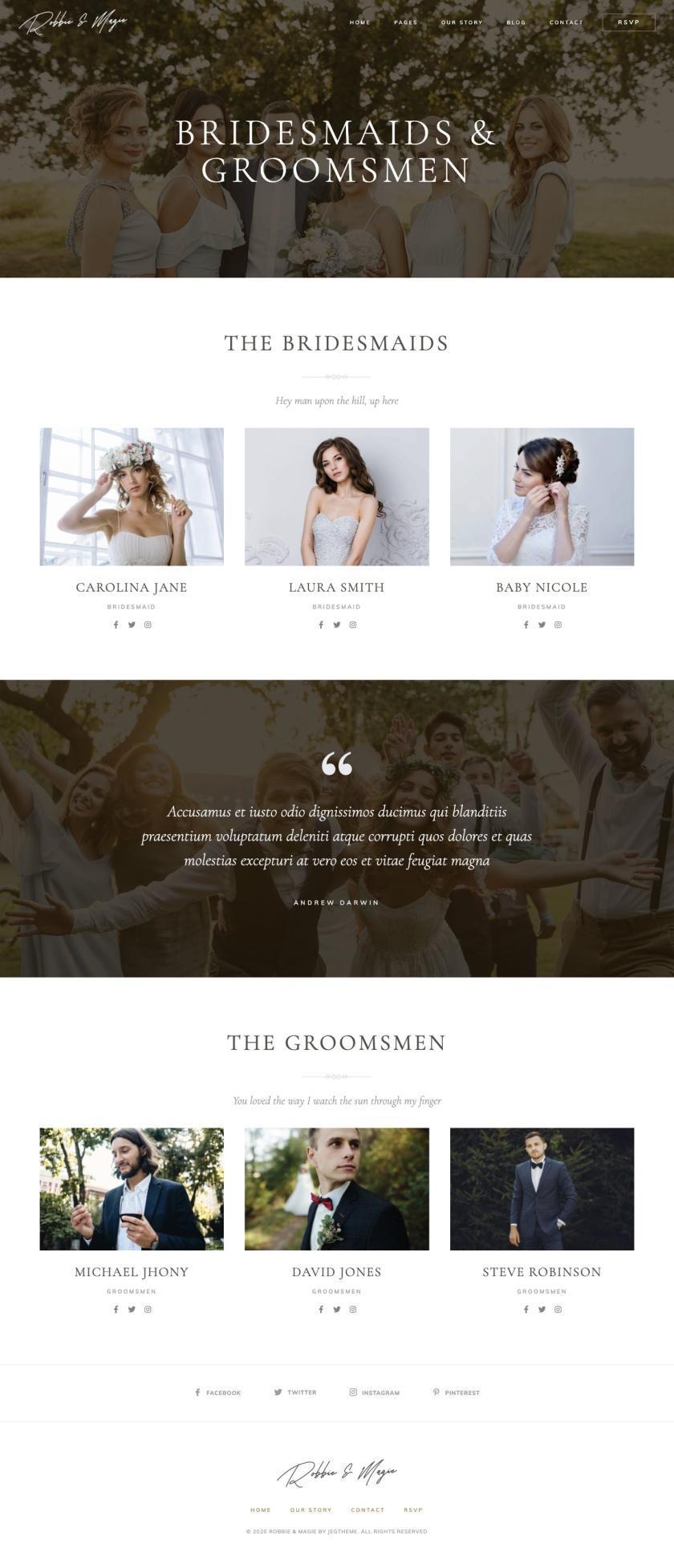 婚礼活动电子邀请函模板WordPress主题Elementor模板插图(7)