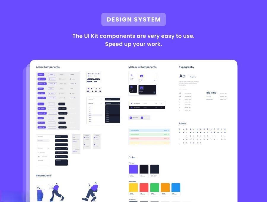 云存储网站和后台管理figma设计模板—Alpha Drive