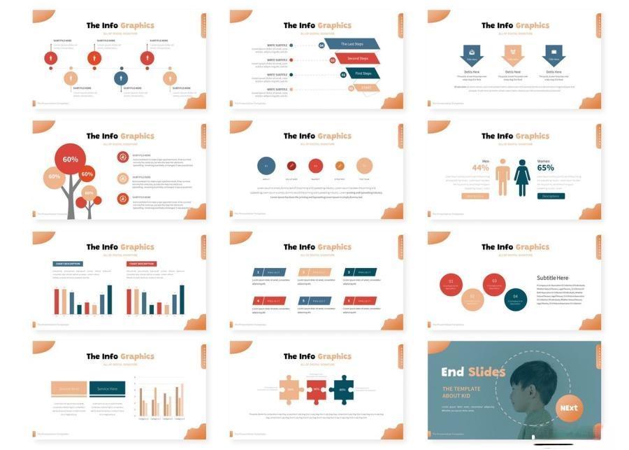简约儿童创意造型宣传keynote演示模板插图(3)