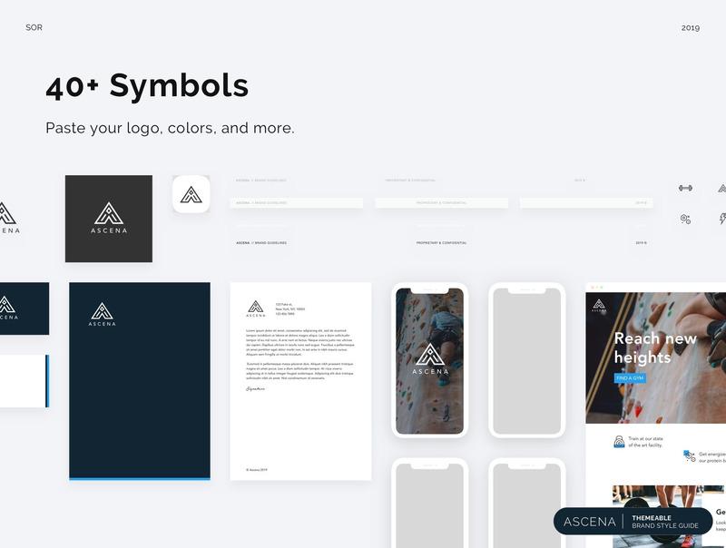 品牌风格规范adobe XD/sketch设计模板插图(3)