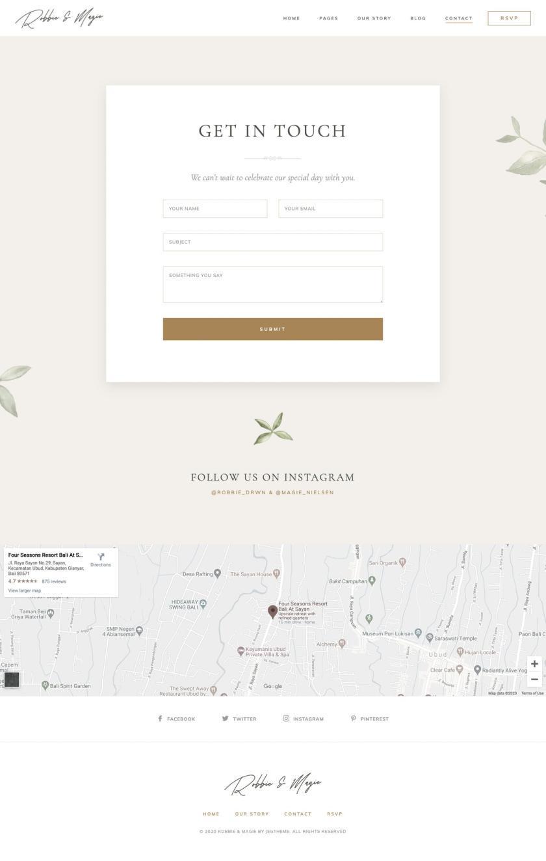 婚礼活动电子邀请函模板WordPress主题Elementor模板插图(6)