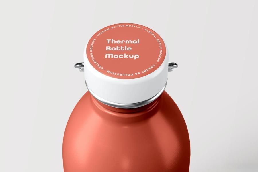 不锈钢水瓶保温瓶热水瓶PS样机素材插图(5)