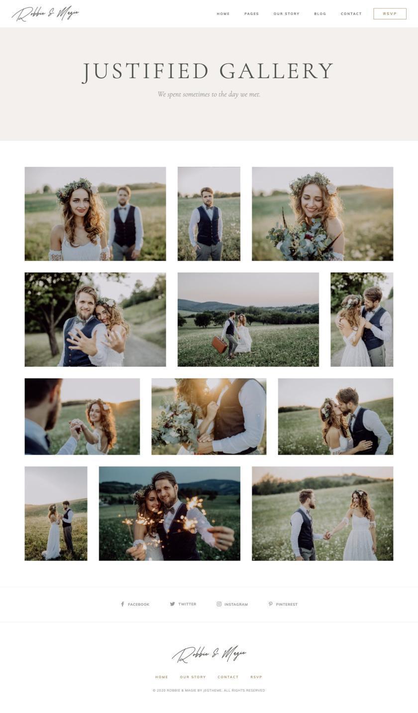 婚礼活动电子邀请函模板WordPress主题Elementor模板插图(4)
