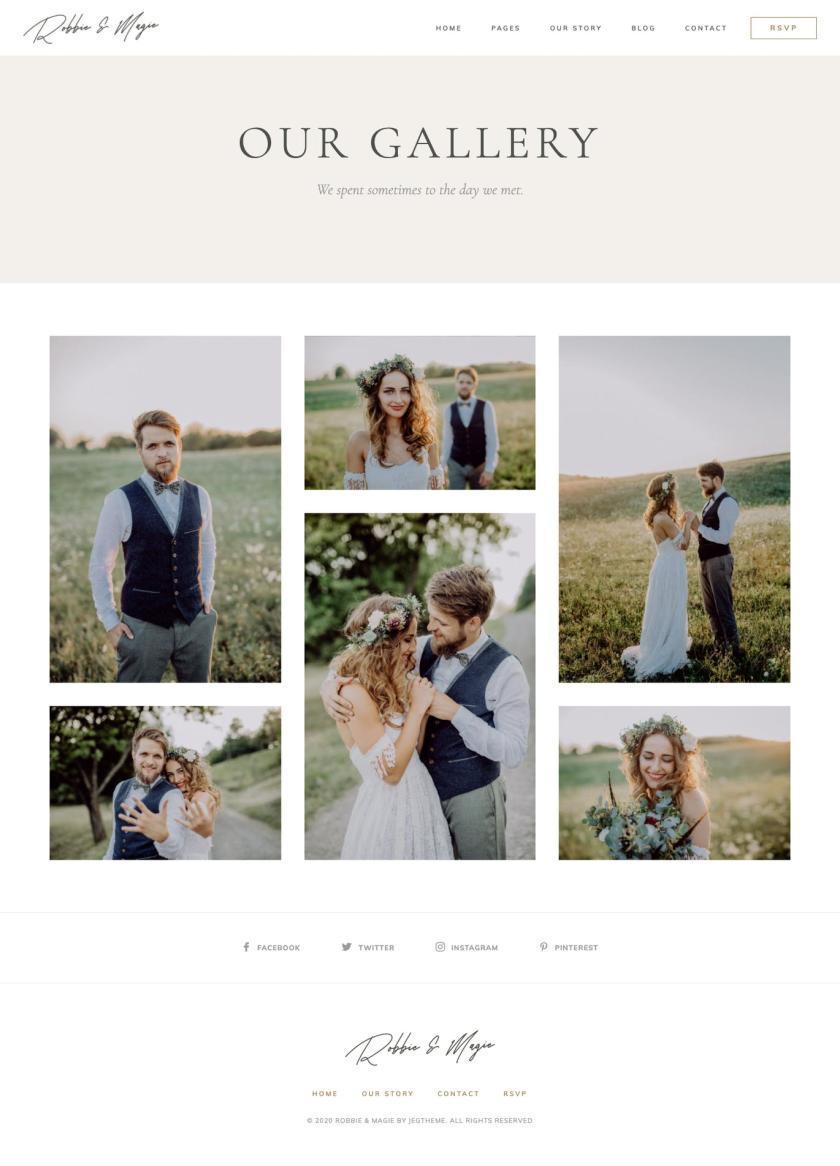 婚礼活动电子邀请函模板WordPress主题Elementor模板插图(3)