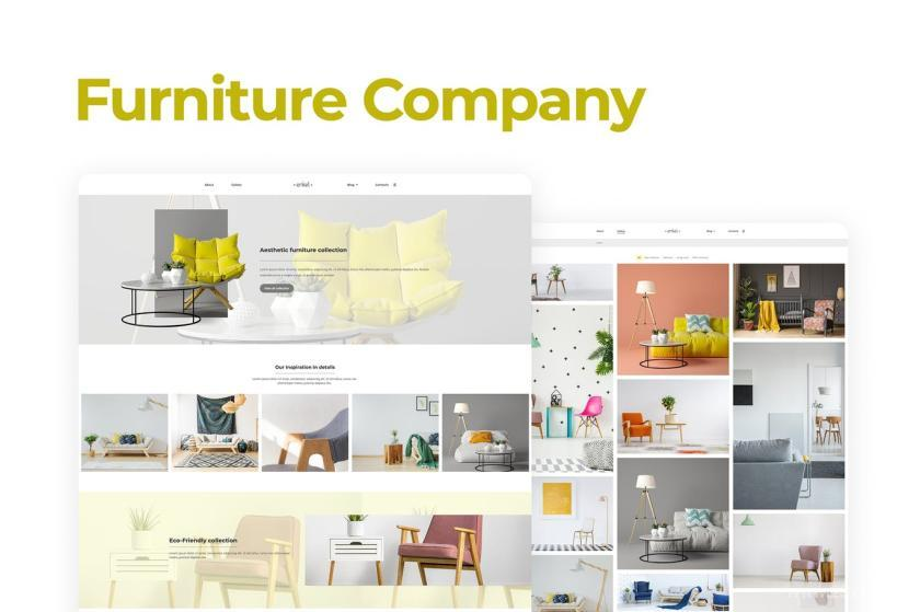 家具品牌官网WordPress企业主题模板Elementor模板