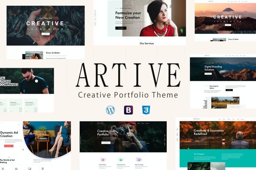 个人作品或企业WordPress主题模板