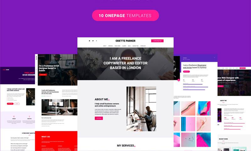 创意自由职业者的10个单页面网站集合插图(1)