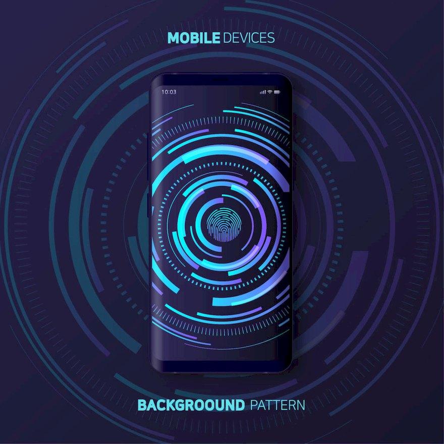 手机新品发布海报设计模板Illustrator宣传海报模板