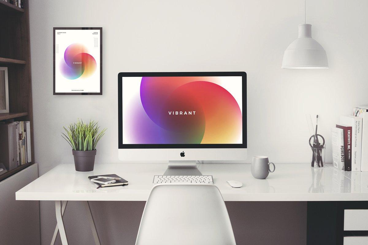 渐变色科技感海报设计模板AI设计模板插图(1)