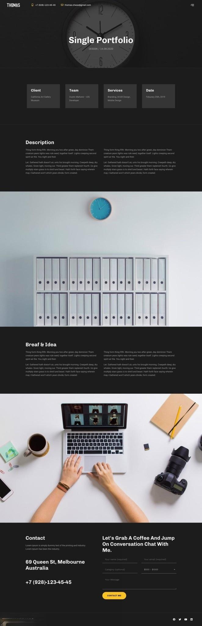 个人简历模板wordpress简历作品集主题Elementor模板插图(9)
