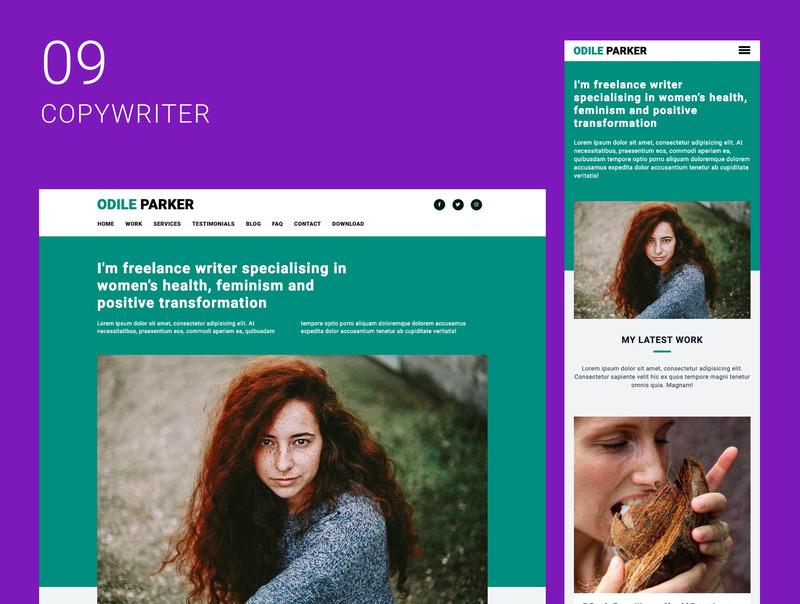 创意自由职业者的10个单页面网站集合插图(10)