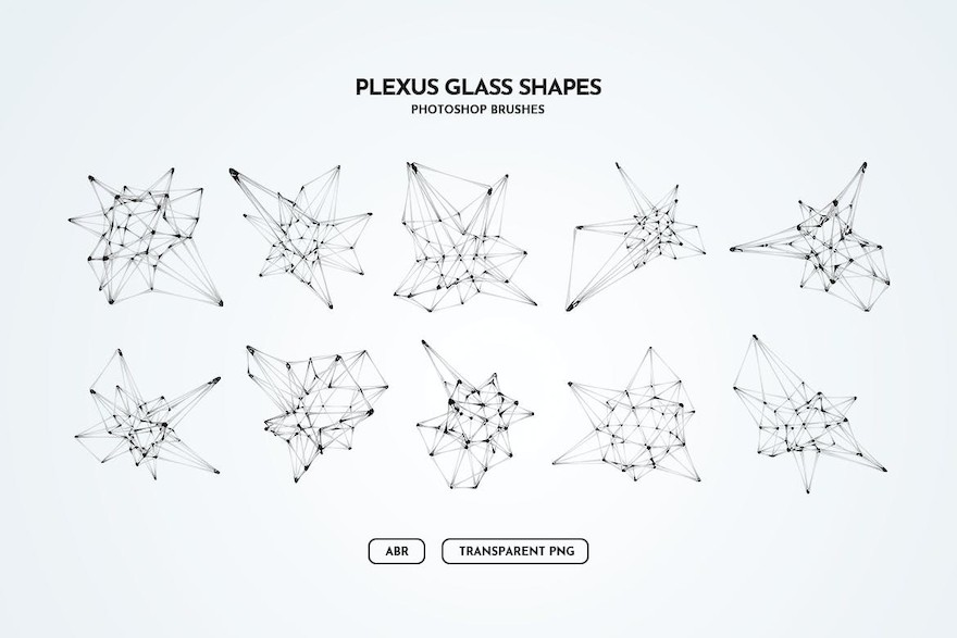 玻璃材质的神经网络状ps笔刷插件插图(1)