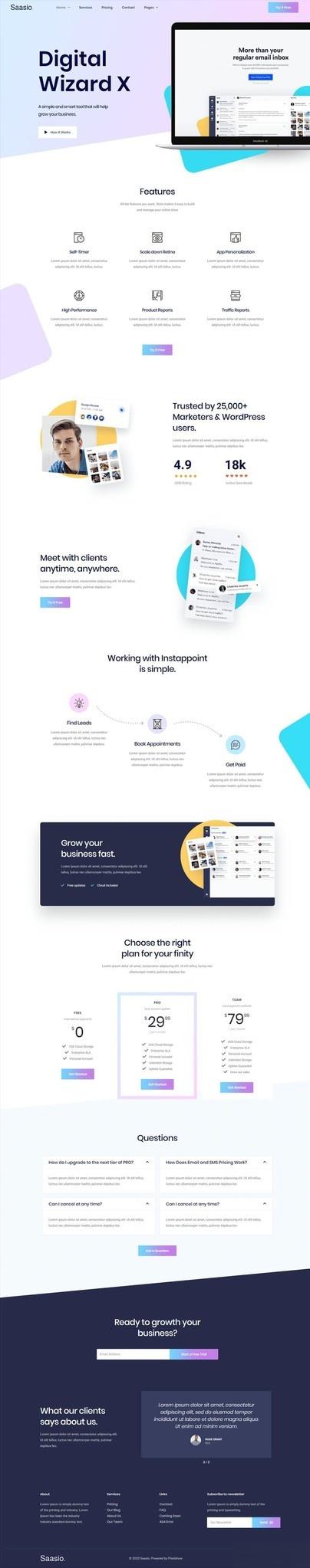 信息服务网站WordPress官网主题模板Elementor模板插图(1)