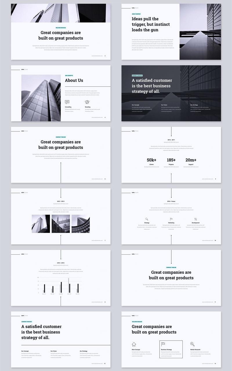 多用途极简设计公司介绍ppt模板插图(1)