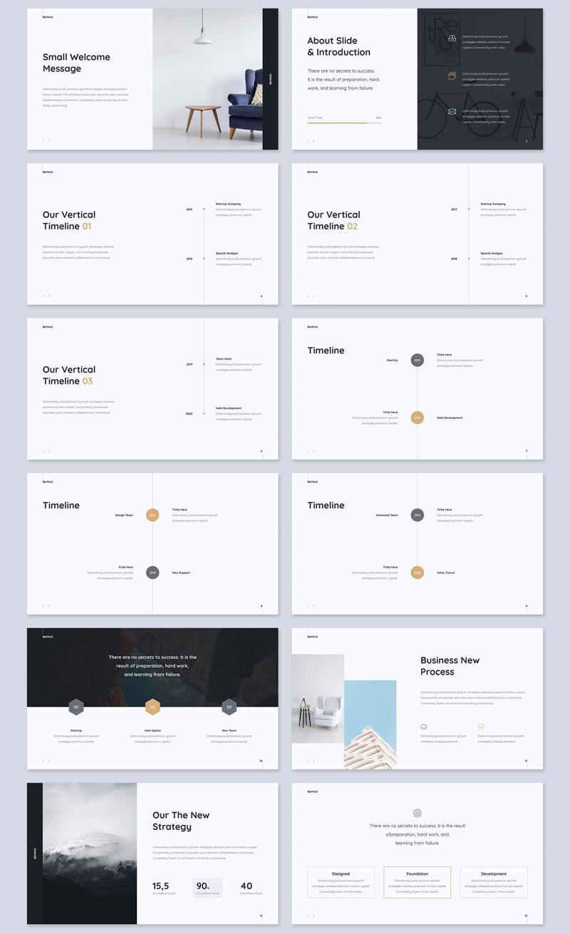 简洁设计的商务经理ppt和Keynote设计模板插图(1)