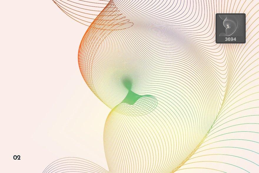 极简风格流动效果网格ps笔刷插件插图(2)