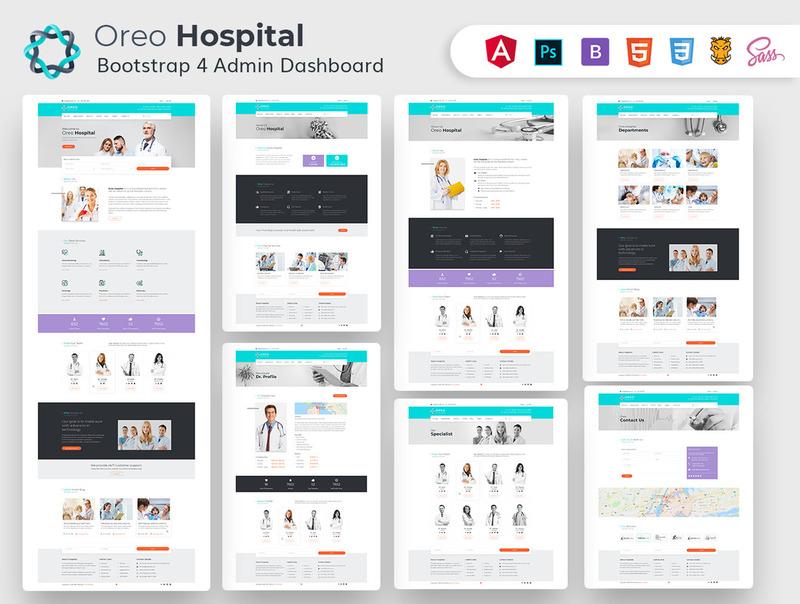 医院网站html+psd设计模板+Bootstrap后台网页模板