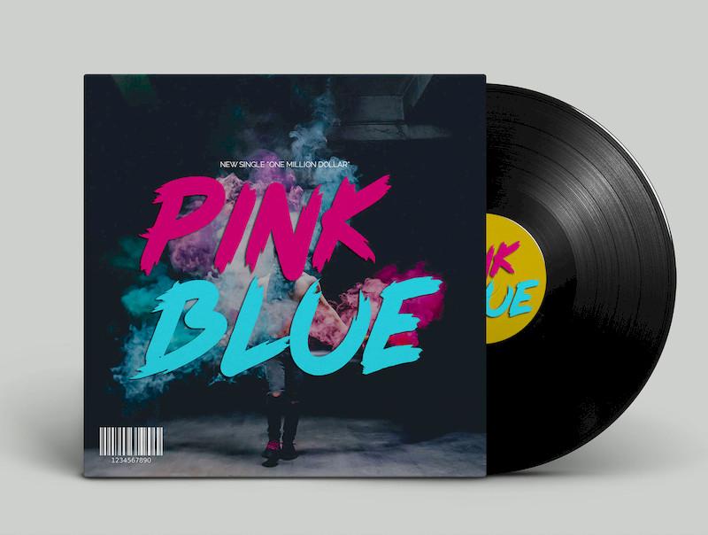 现代风格手绘英文字体Pink Blue插图(2)