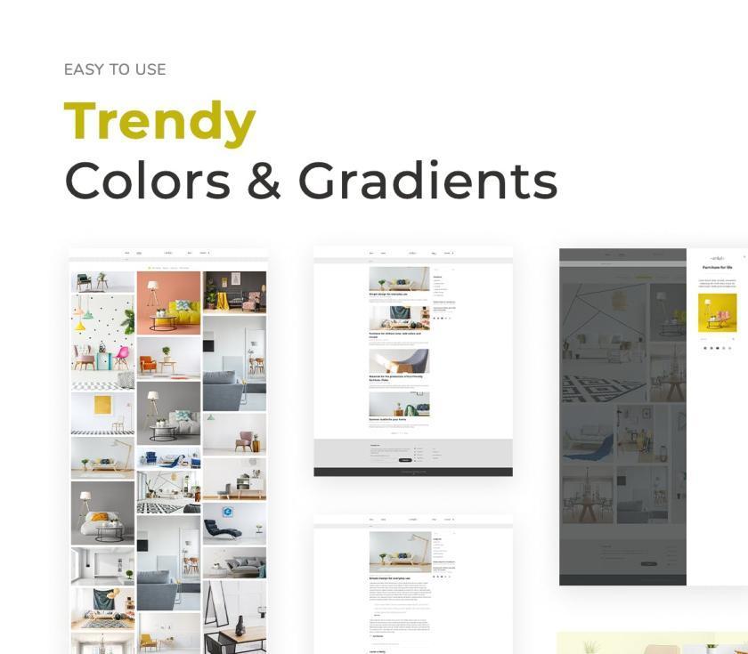 家具品牌官网WordPress企业主题模板Elementor模板插图(1)