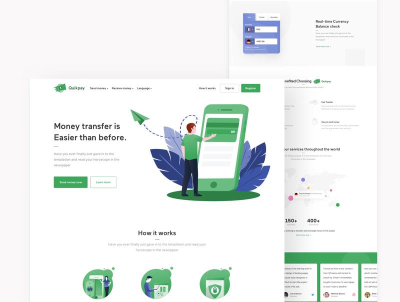 网站着陆页设计模板Figma/sketch设计模板+html网页源码插图(4)