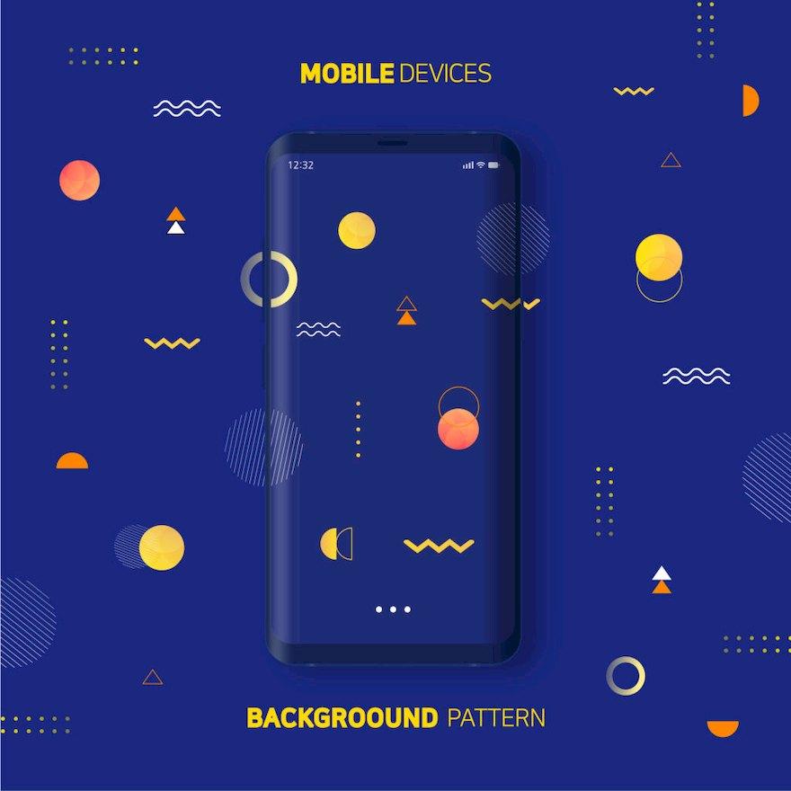 手机新品发布海报设计模板Illustrator宣传海报模板插图(9)