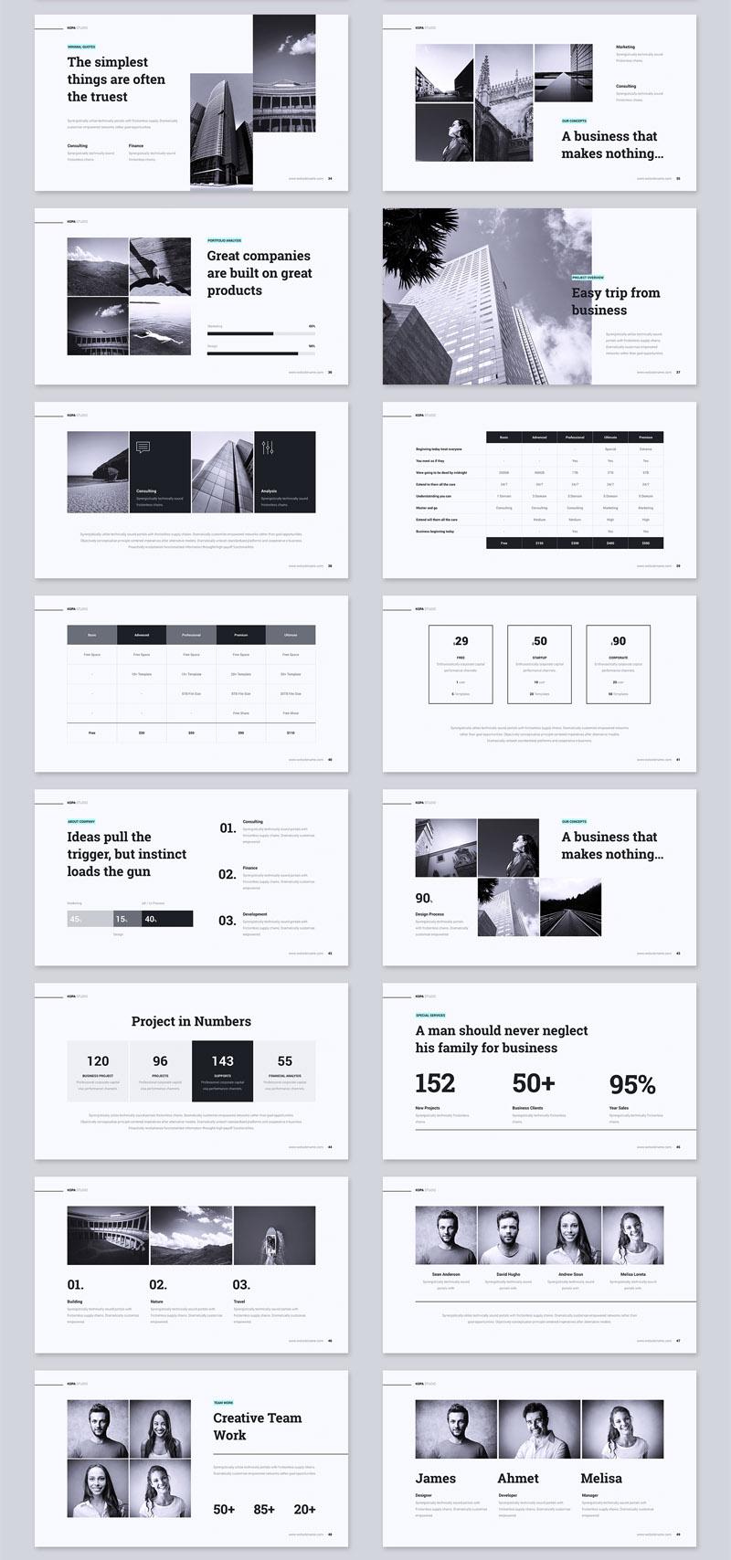 多用途极简设计公司介绍ppt模板插图(2)