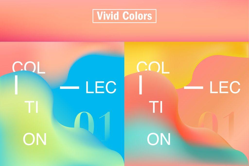 一组精美独特的渐变色平面海报AI设计模板插图(2)