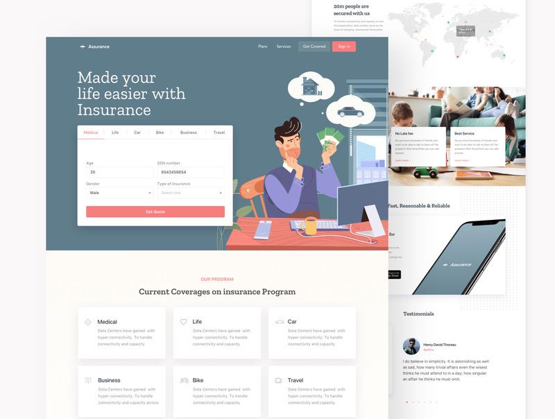 网站着陆页设计模板Figma/sketch设计模板+html网页源码插图(3)