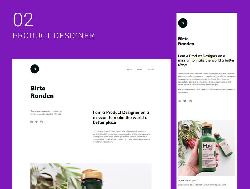 创意自由职业者的10个单页面网站集合插图(3)