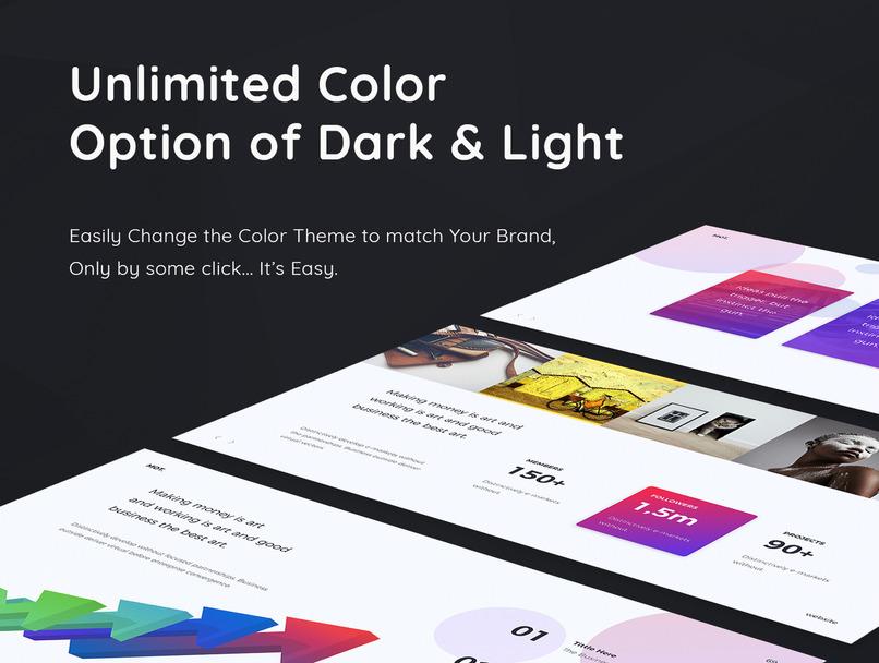 渐变色创意排版的Keynote和ppt设计模板