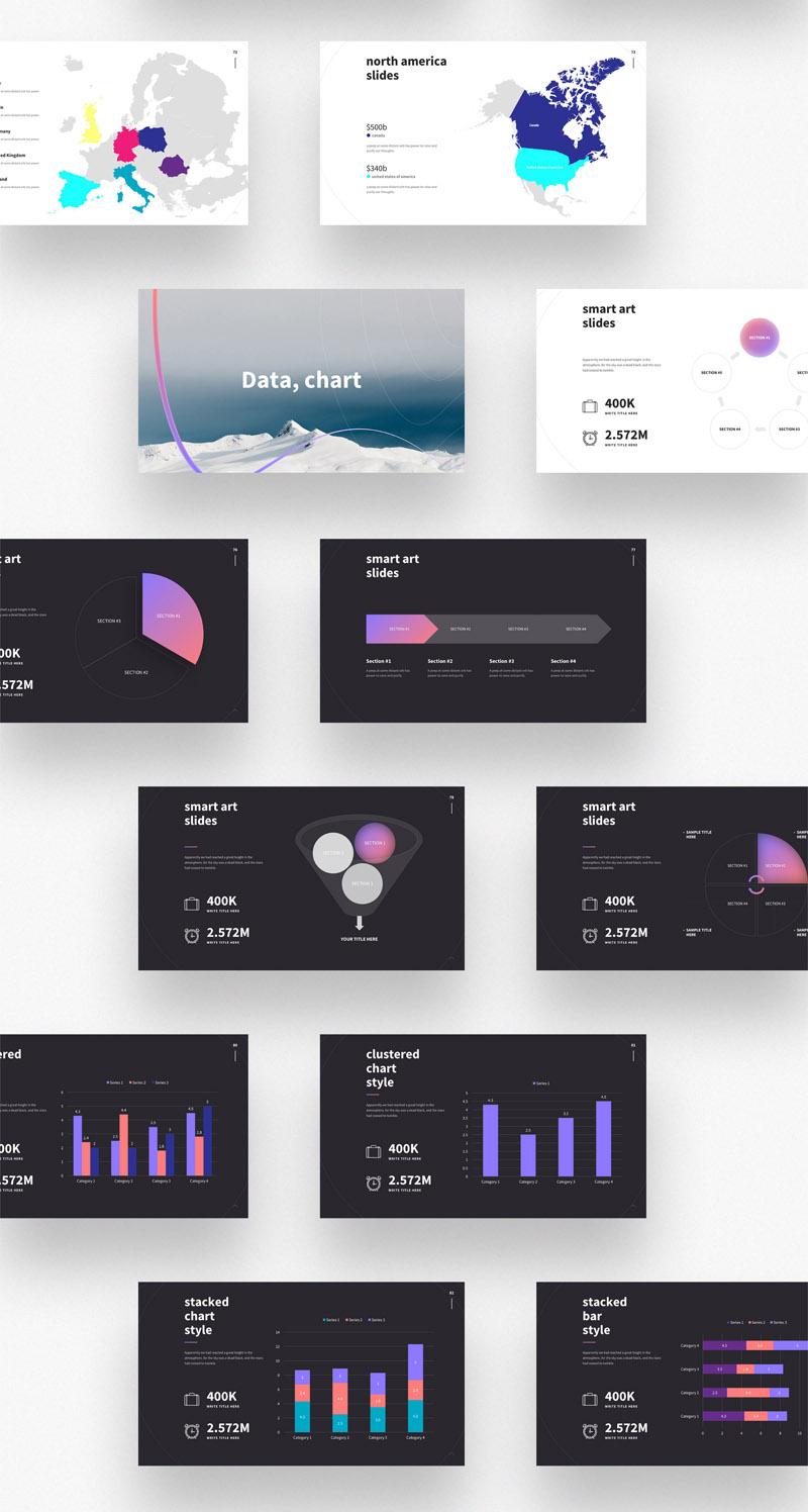 多用途时尚独特设计的ppt模板——Shaper插图(3)