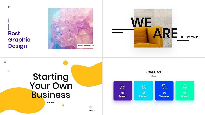 一组流行风格的多用途网页banner海报PS设计模板插图(5)