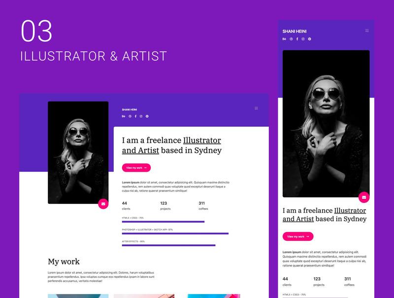 创意自由职业者的10个单页面网站集合插图(4)