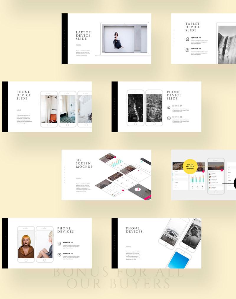 多用途现代极简设计的公司设计项目方案汇报Keynote和ppt模板插图(4)