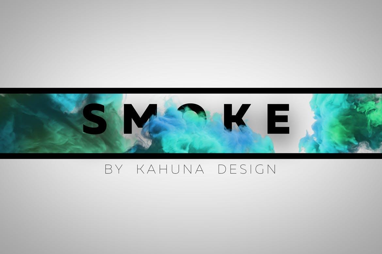 烟雾效果的photoshop海报设计模板插图(1)