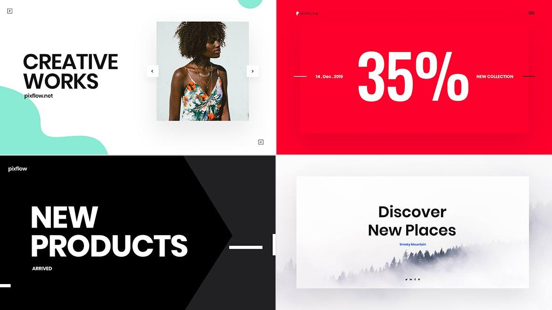 一组流行风格的多用途网页banner海报PS设计模板插图(3)