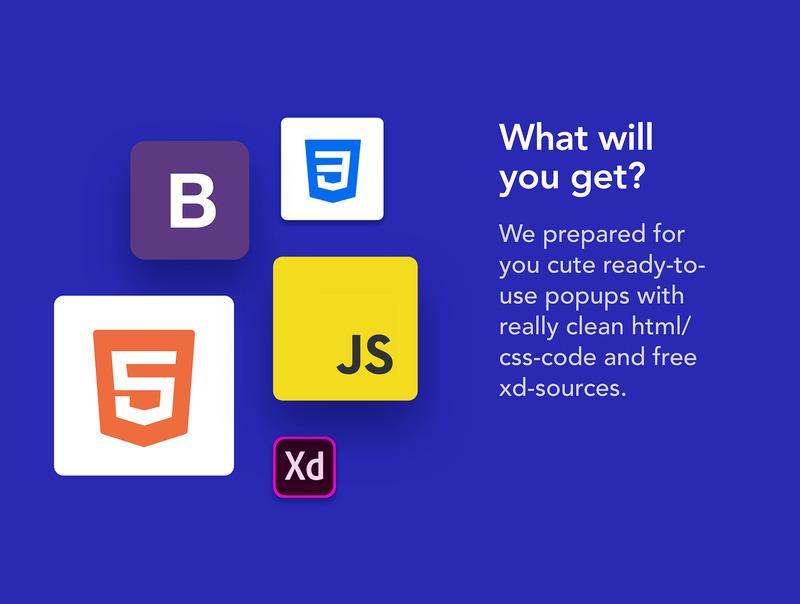 网页弹窗设计素材XD设计素材+html/css前端代码插图(4)