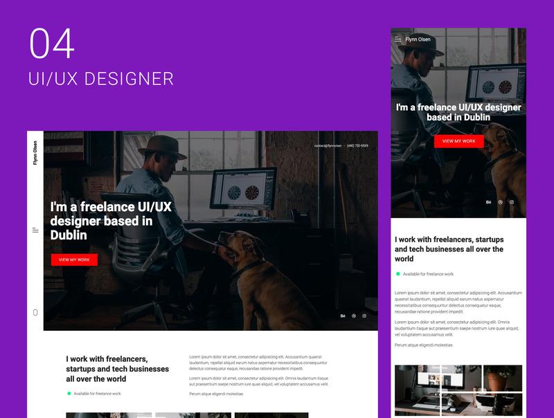 创意自由职业者的10个单页面网站集合插图(5)