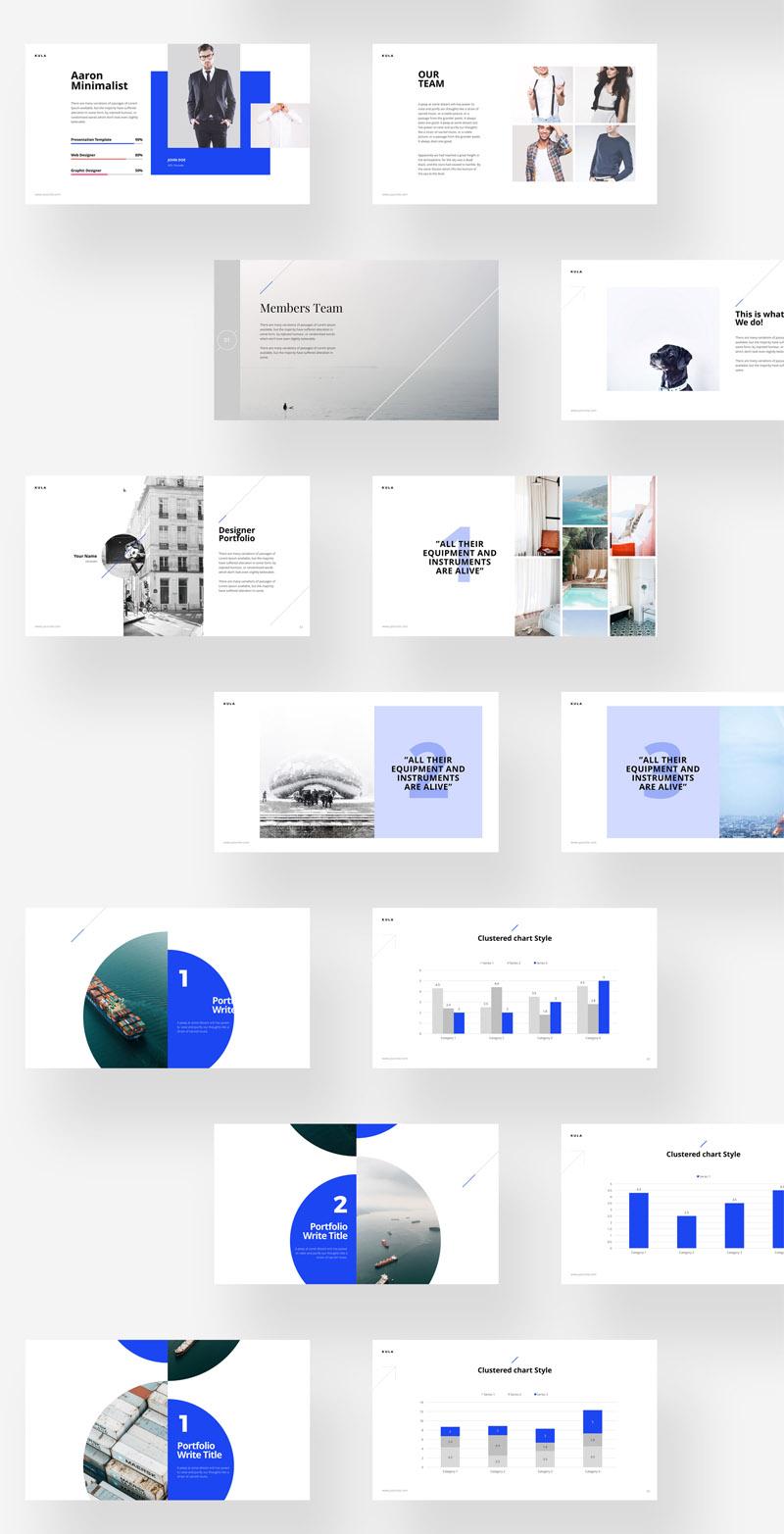 多用途极简设计的公司设计项目方案汇报ppt和Keynote模板插图(5)