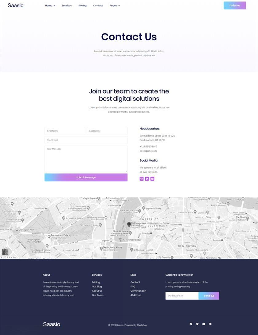 信息服务网站WordPress官网主题模板Elementor模板插图(5)