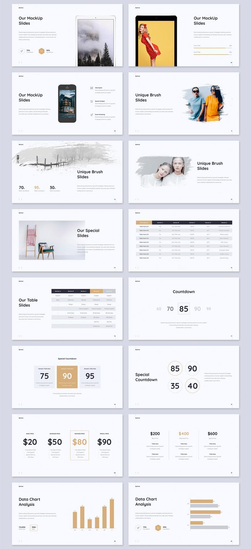 简洁设计的商务经理ppt和Keynote设计模板插图(5)