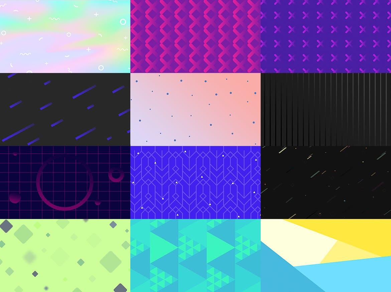 100个时尚绚丽孟菲斯风格的背景底纹纹理PS模板插图(4)